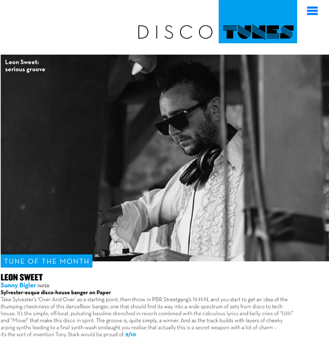 tune of the month mixmag leon sweet